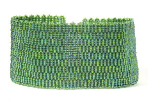 Olive AB Beadwoven Cuff